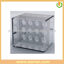Unique Design Acrylic 12 Bottle Wine Case