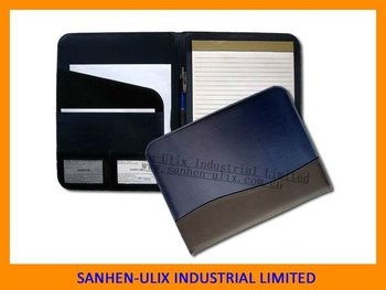MICROFIBER AND PU MATERIAL PORTFOLIO WITH 20 SHEETS NOTEPAD