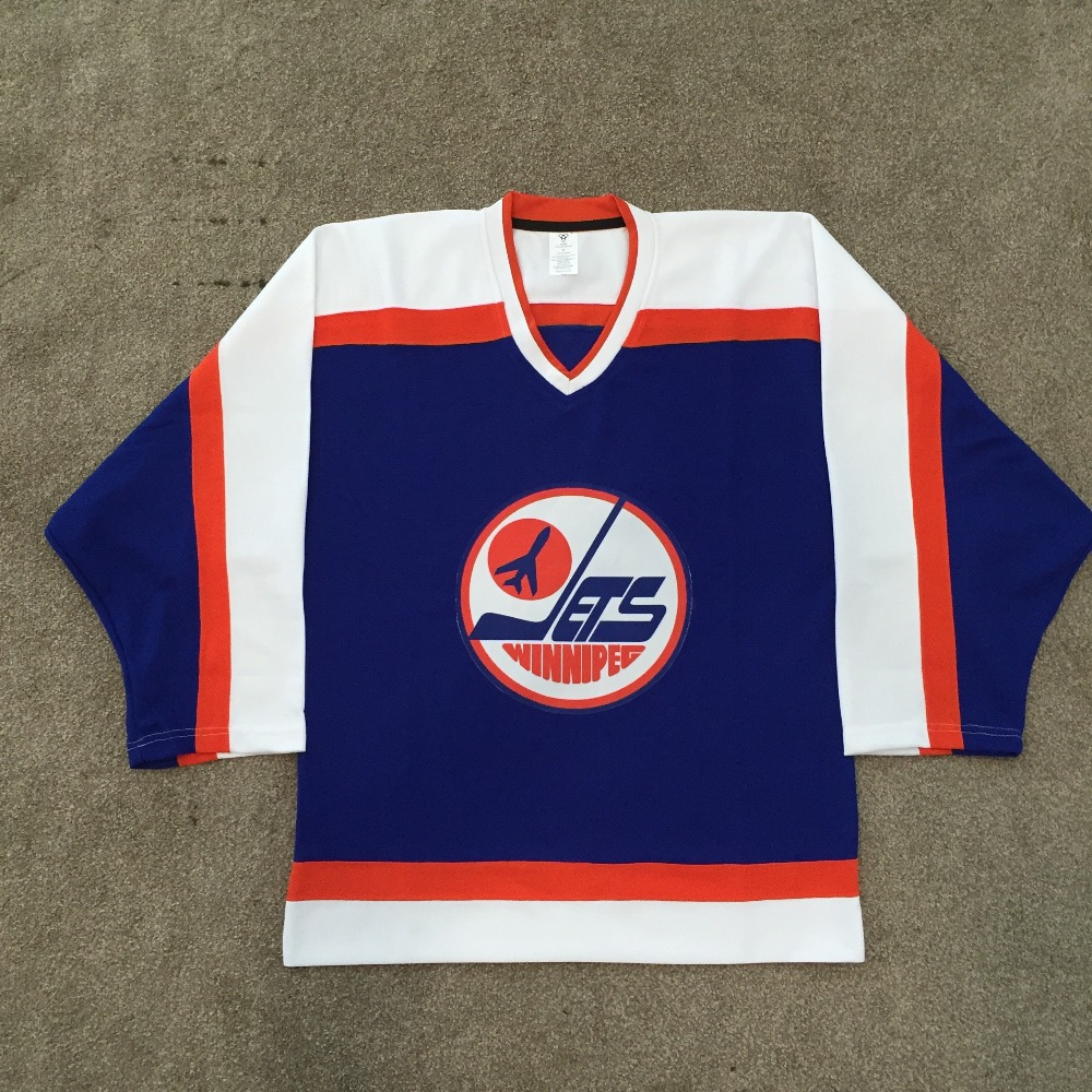 NHL Blue Plane Custom hockey Jersey