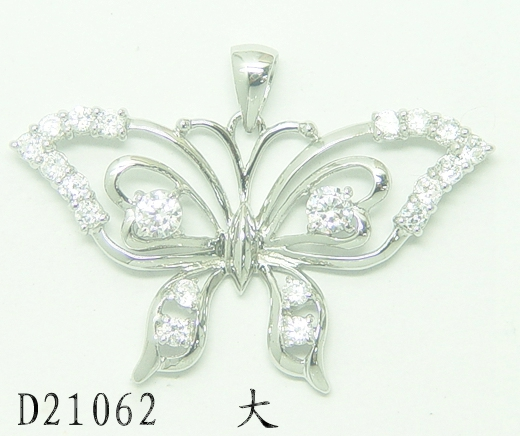 Best Selling Large Size 925 Silver necklace CZ pendant colombian jewelry