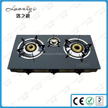 3 Burner Gas Stove Tempered Glass Top