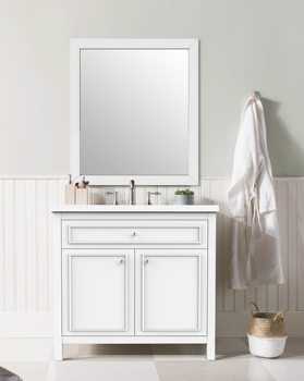 36'' simple bathroom vanity with clean line for sale