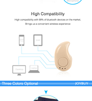 Mini Style Bluetooth Earphone Wireless S530 In Ear Bluetooth Headsets Stealth Handsfree Earbuds Universal for Bluetooth Devices