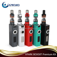 new product vpark 50w premium kit temperature control box mod,e vaporizer e cigarette box mod fit huge vapor 2.5ml tank atomizer