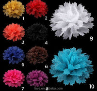 Wholesale New Glitter Sharp Leaf Fabric Flower