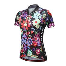 Hot Retro Anti Slip chrysanthemum Shirt <strong>cycling</strong> women's