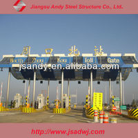 Andy prefabricated steel frame structure roofing for toll station