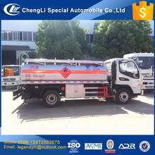 China cheap price good quality gasoline diesel refueling 4x2 4000 liters 5000 liters small mobile refueling tank truck for sale