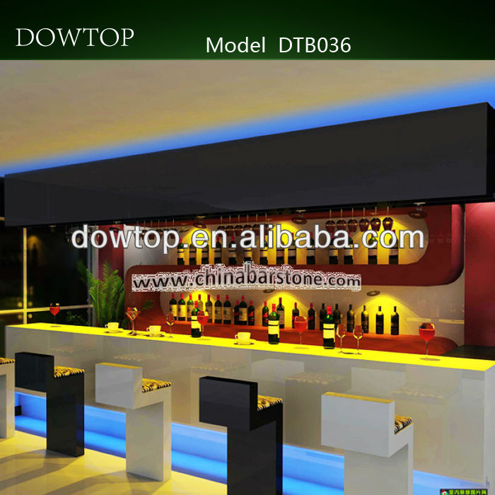 High class and modern bench nightclub luxurious bar furniture