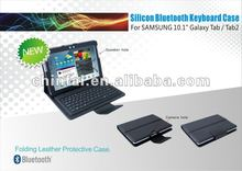 Silicon bluetooth keyboard for Samsung 10.1 Galaxy Tab/Tab2