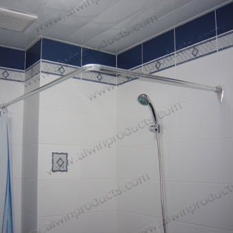 l shape stainles steel shower curtain rod