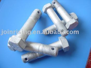 Hexagonal bolts natrual finish grade 4.8