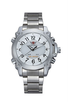Hottest branded stainless steel fashion watch with stylish mature mens best watch