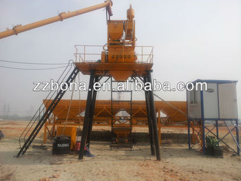 2014 Top sale Bona HZS25 cement concrete mixing plants