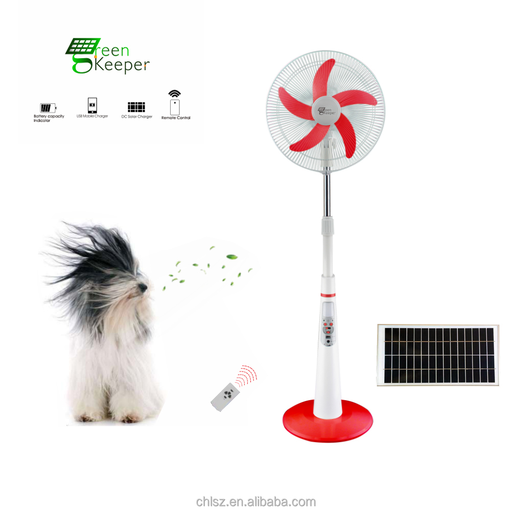 2017 hot selling green keeper solar powered rechargeable fan