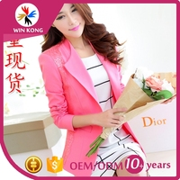 winkong 2016 Women's Fashion Small sweet wind ladies splicing cloth coat suits for women