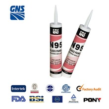 gray neutral silicone sealant in clear color silicone