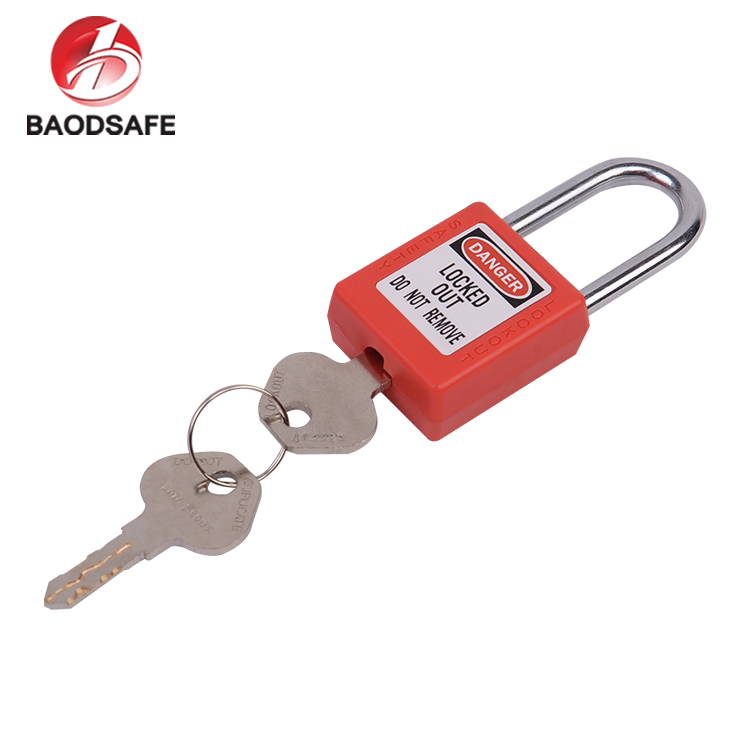 BAODI Super September Big Promotional Best Quality ABS Red Safety Padlock Key