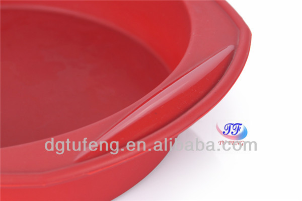 Christmas microwave red big silicone bakeware spone cake pan