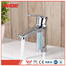 Modern style bathroom wash hand basin tap in chrome finish