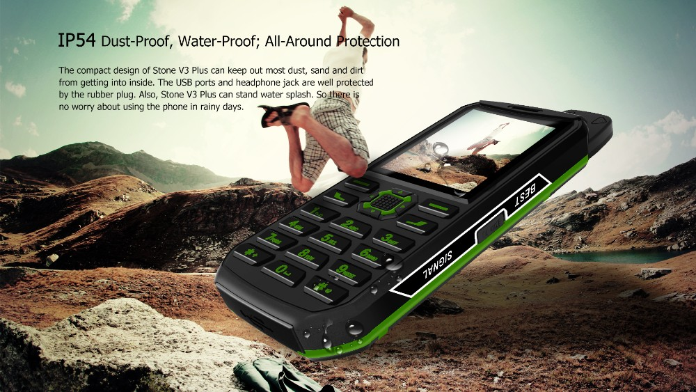 New popular VKWORLD STONE V3 PLUS 2.4inch 240*320 Camera 0.3MP waterproof keypad mobile phones