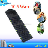 portable folding 10.5W 9v solar panels 1A solar charger