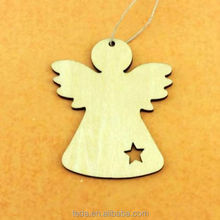Angel Christmas ornament craft supply, Christmas tree wood decorations