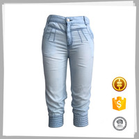 Latest design Cheapname branded women jeans capris pants