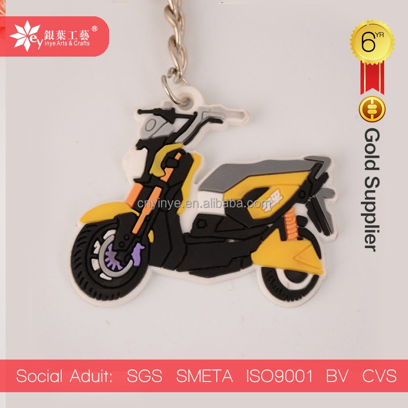 motorcycle soft pvc keychain pvc rubber key chain