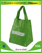 with customer logo green pp non woven tote shopping bag