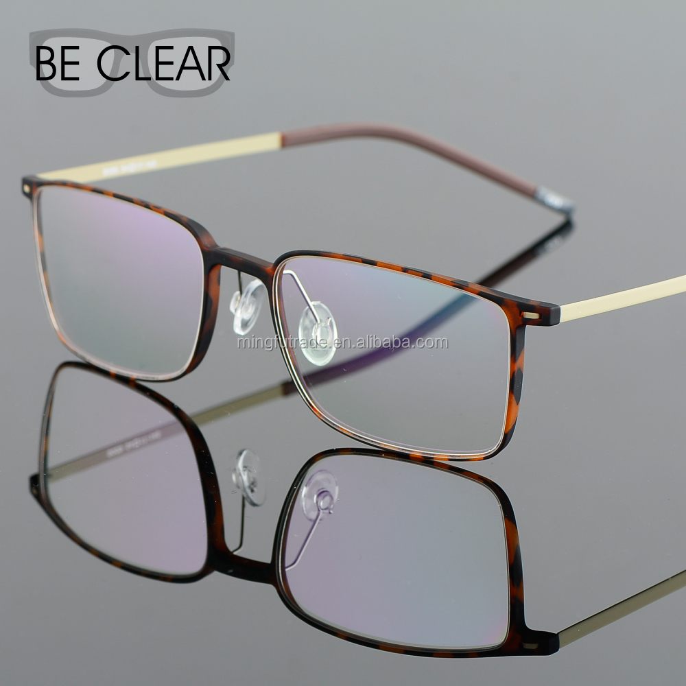 EMS Silicon Eyeglasses Plain Vision Clear Glasses Frame Prescription Reading Spectacle Man Women Designer Titan Optical Frame