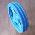 Customized cast iron aluminum v belt spoke pulley sheave with keyway