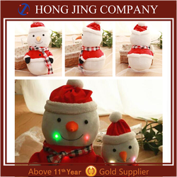 China Supplier Musical Plush Christmas Snowman Toy Gift