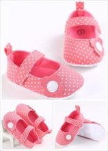 New Indian and Pakistan Flower Kid shoes Soft newborn baby Sandals shoes child prewalker Dot casual shoes for 3-12 month