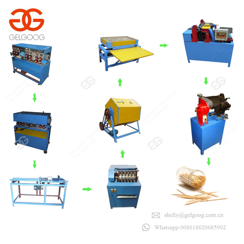 Good Feedback Barbecue Toothpick Incense Wood Stick Making Maker Line Bamboo Toothpicker Machine