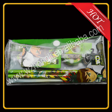 Printed PVC cheap pencil pouch with button