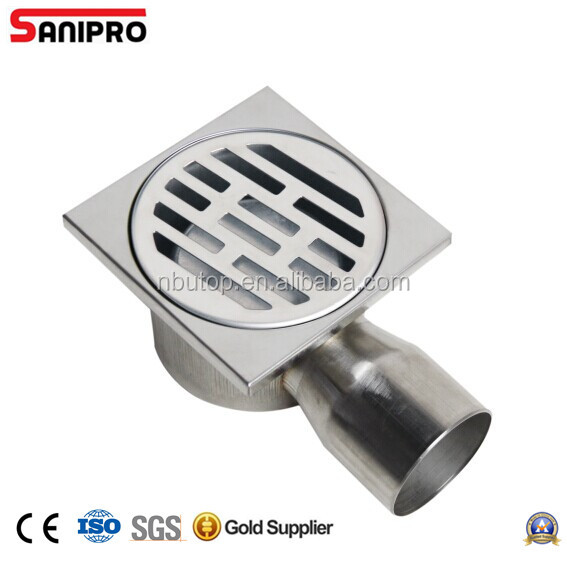 SANIPRO STAINLESS STEEL SIDE OUTLET 10X10 BATHROOM SQUARE SHOWER DRAIN FOR RUSSIA