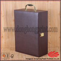Briefcase design wine box, wine glass cardboard gift box