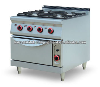 Multifunctional kitchen equipment free standing 4 burner for Kitchen equipment definition