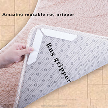 Furniture gripper washable carpet grip strip anti slip rug pad
