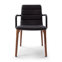 High Quality Tonon Pit Chair Slim Dining Chairs, Black Leather Dining Chair with or without Arms optional