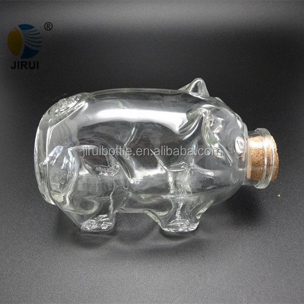 animal shaped bottle small decorative glass jar for gift wishing bottle