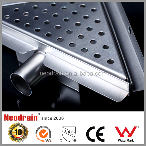 Stainless steel linear shower drain grate , swimming pool floor drain