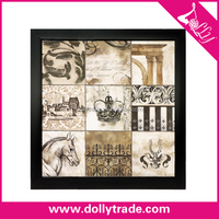 Black Frame Wall Picture Painting Fine Arts for Home Decoration