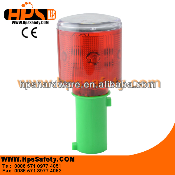 Japan Style Solar Hazard Warning Light For Traffic Cone