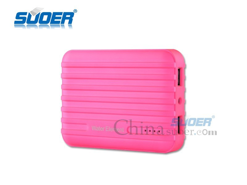 Suoer High Quality 2 USB 10400mAh Power Bank Portable Battery Charger Mobile Power Pack