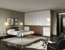 Low Price sliding door Wooden Almirah Designs In Bedroom Wall