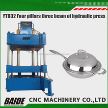 YTD32 Hydraulic Deep Drawing Aluminium Cookware aluminum utensils production line metal stamping press machine