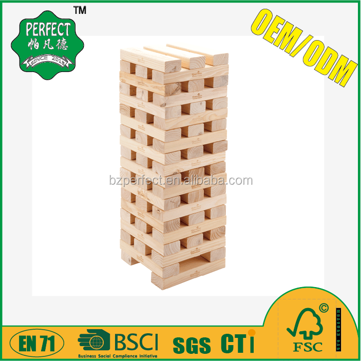 wooden giant jenga blocks jenga game set tumbling tower for garden game
