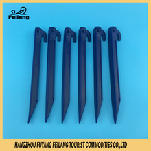 9-Inch/23cm ABS Plastic Injection Nail Tent Ultra Light Pegs Garden Stakes With Small Hook